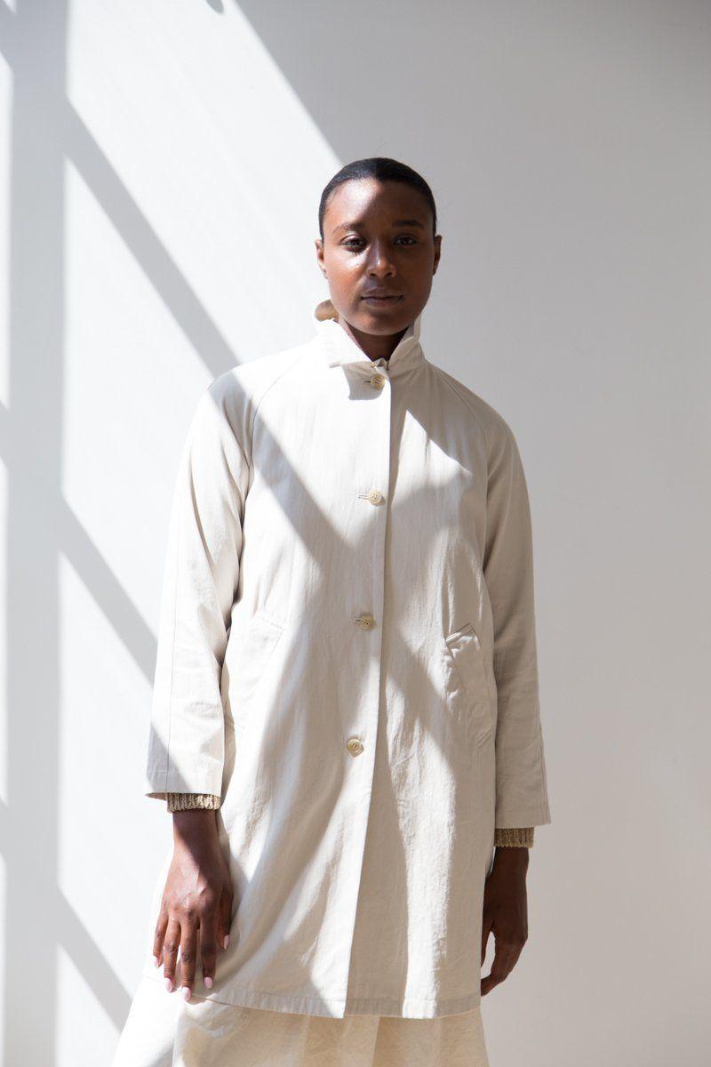 Evam Eva Cotton Coat Ecru  e54883500