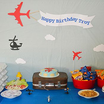 Airplane Theme Birthday Party Cnund Pinterest Monster party