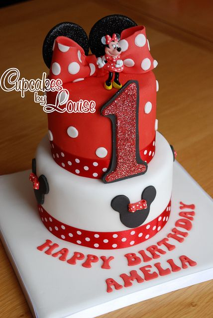 Miraculous 2 Tier Minnie Mouse Cake With Images Minnie Mouse Birthday Funny Birthday Cards Online Overcheapnameinfo