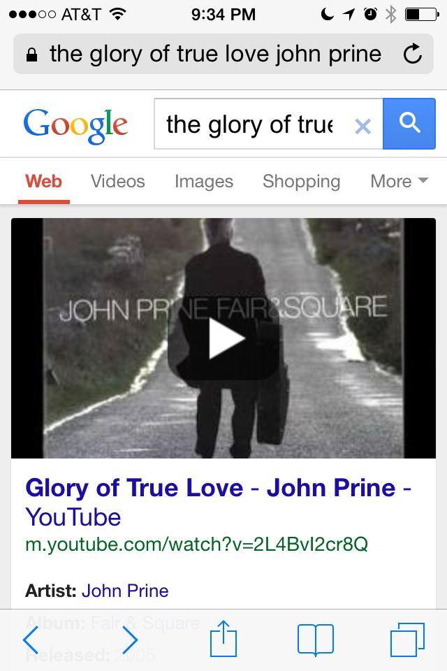 Glory Of True Love By John Prine