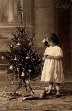 Vintage Black And White Photo Of A Child Noel