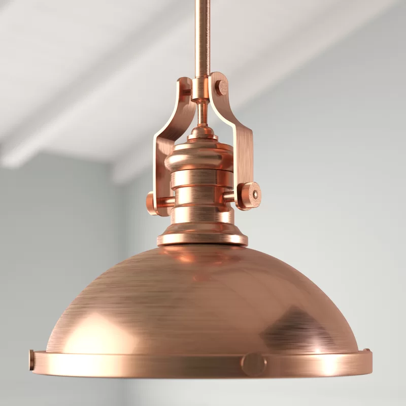 1-Light Single Dome Pendant #951ryecourt