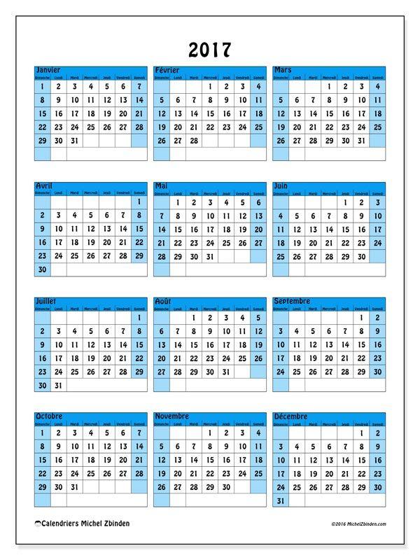 Gut bekannt Gratuit ! Calendriers pour 2017 à imprimer | calendrier  OW59