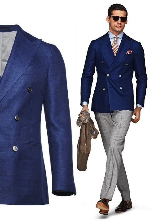 suit supply blue plain soho image double breasted db blazer suit ...