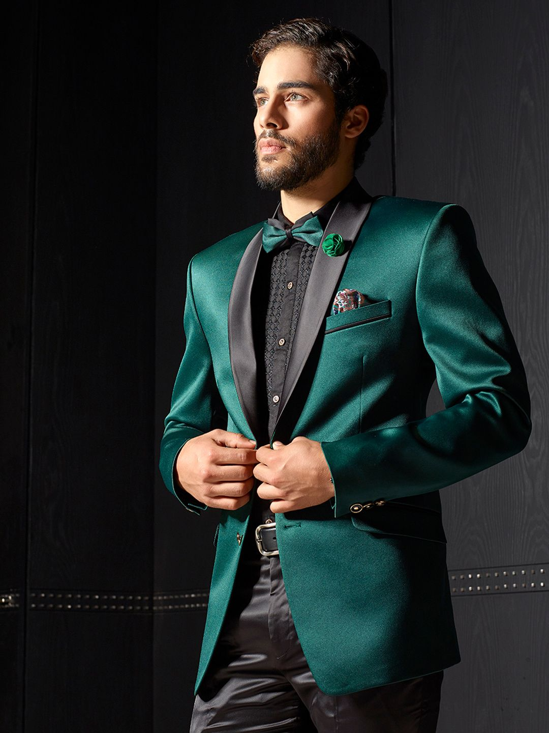 07ff280cf Solid green terry rayon coat suit - G3-MCO0676 in 2019 | suits ...