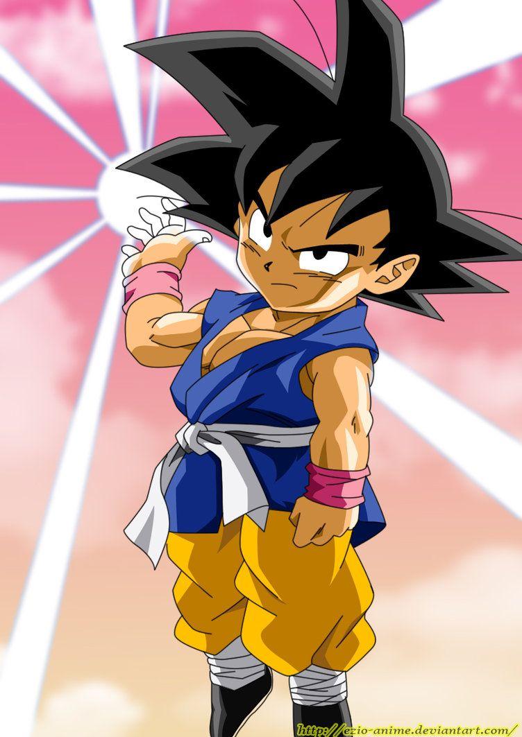 Kid Goku Gt Coloured Kid Goku Dragon Ball Dragon Ball Art