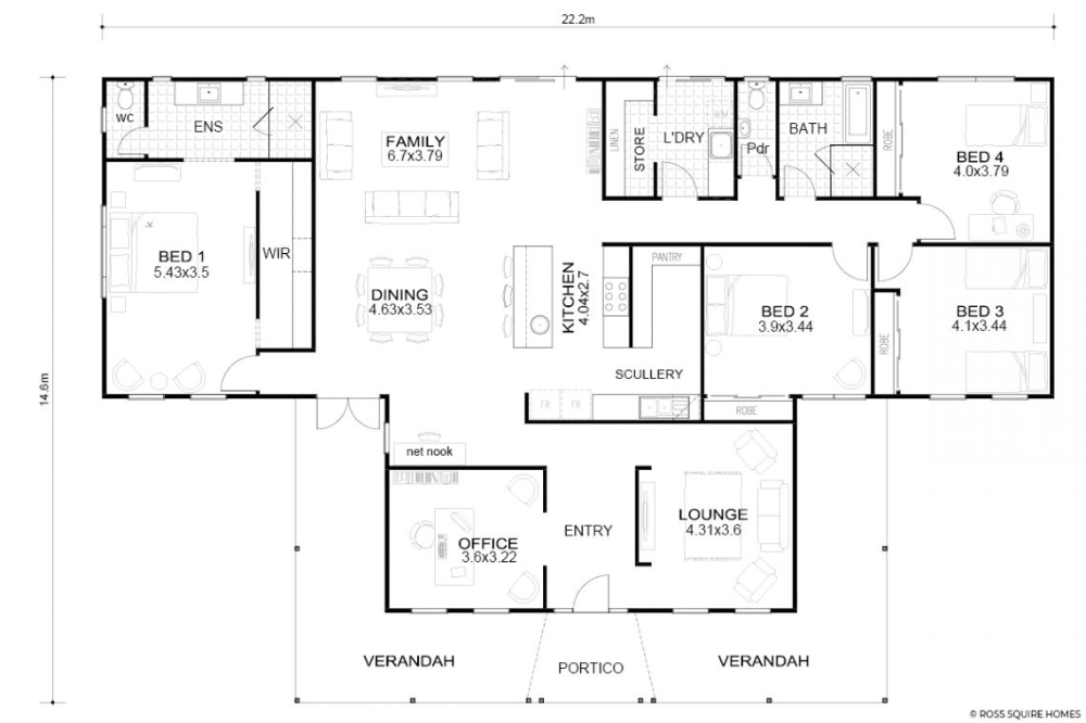 Atherton Queenslander Style Design Floorplan Wa Country Builder Country Builders Floor Plans Queenslander