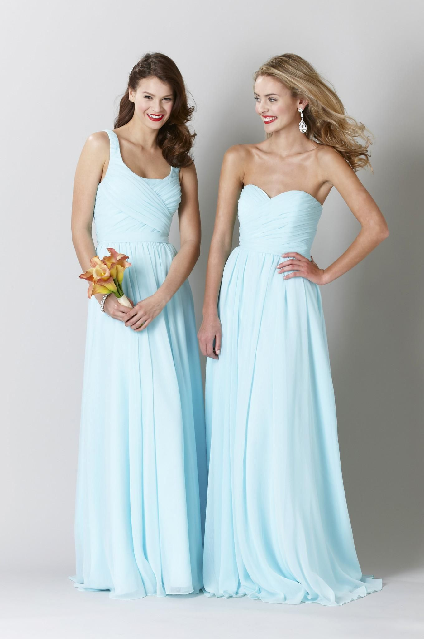 Wholesale bridesmaid dress buy light blue floor length bridesmaid