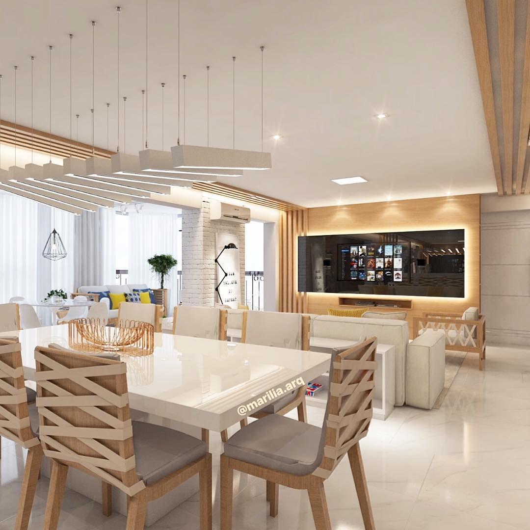 #474474 mulpix Sala de Estar e JantarProjeto de uma sala toda integrada Estar Jantar e Varanda  1080x1080 píxeis em Ambiente Moderno Descolado Sala Estar Jantar