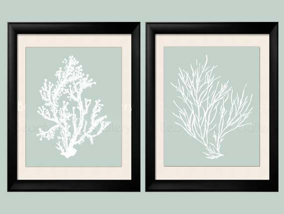 Sage Wall Art Palladian Blue Art Sea Foam Green Coral Print Set Palladian Blue Wall Art Bathroom Wall Art Bedroom Wall Art Set Of 2