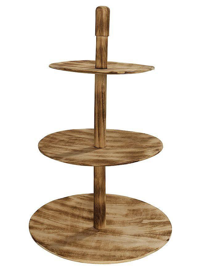 Aus Paulowniaholz handgefertigt. 3 Ablageflächen. Abweichungen sind möglich. H/ø ca. 48/30 cm. Leichte Selbstmontage....