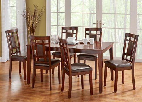 Dining Room Set  Lindsey 7 Piece  In Il  The Roomplace  Home Awesome The Room Place Dining Room Sets Design Decoration