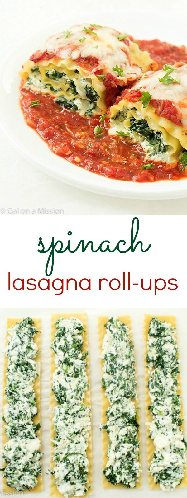 Spinach Lasagna Roll Up Recipe An Incredibly Easy Weeknight Or Weekend Dinner The Entire