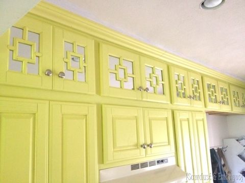 Kitchen Cabinets Up To Ceiling extending kitchen cabinets up to the ceiling | yellow, cabinets