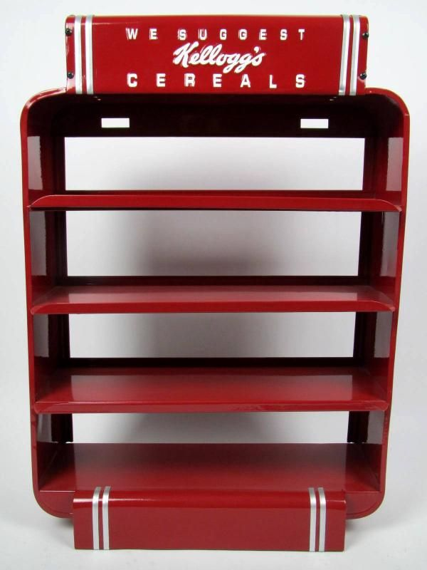 Restored Kellogg's Metal Cereal Store Display Stand Antiques Classy Kellogg's Cereal Display Stand