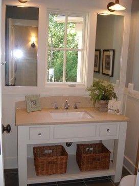 Bathroom Vanity In Front Of Window Design Ideas Pictures Remodel