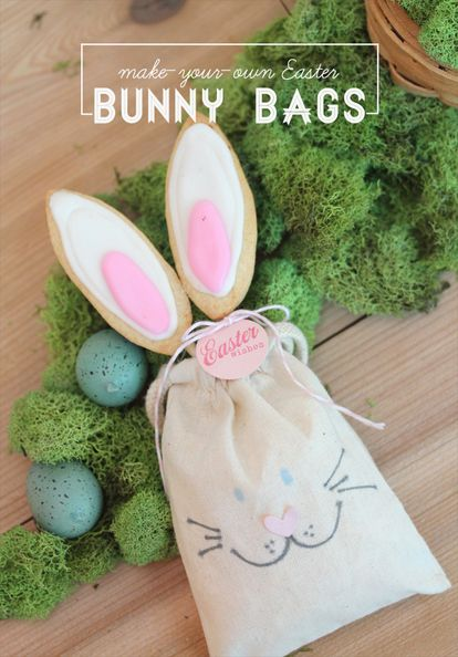 Diy easter bunny bags easter ideas bunny easter and easter bunny negle Image collections