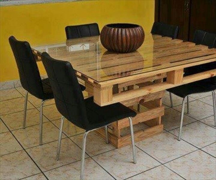 Mesa con palets Terraza / Jardín Pinterest Furniture, Diy