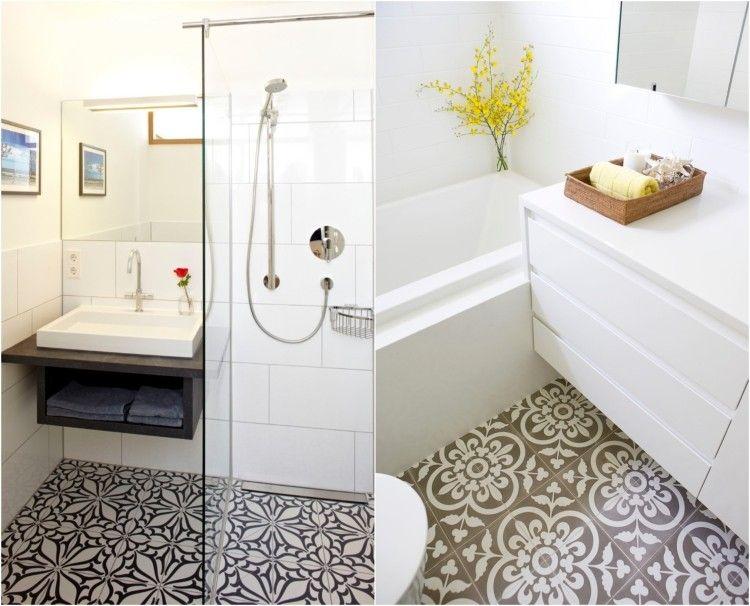 comment agrandir la petite salle de bains 25 exemples - Carrelage Salle De Bain Avec Motif