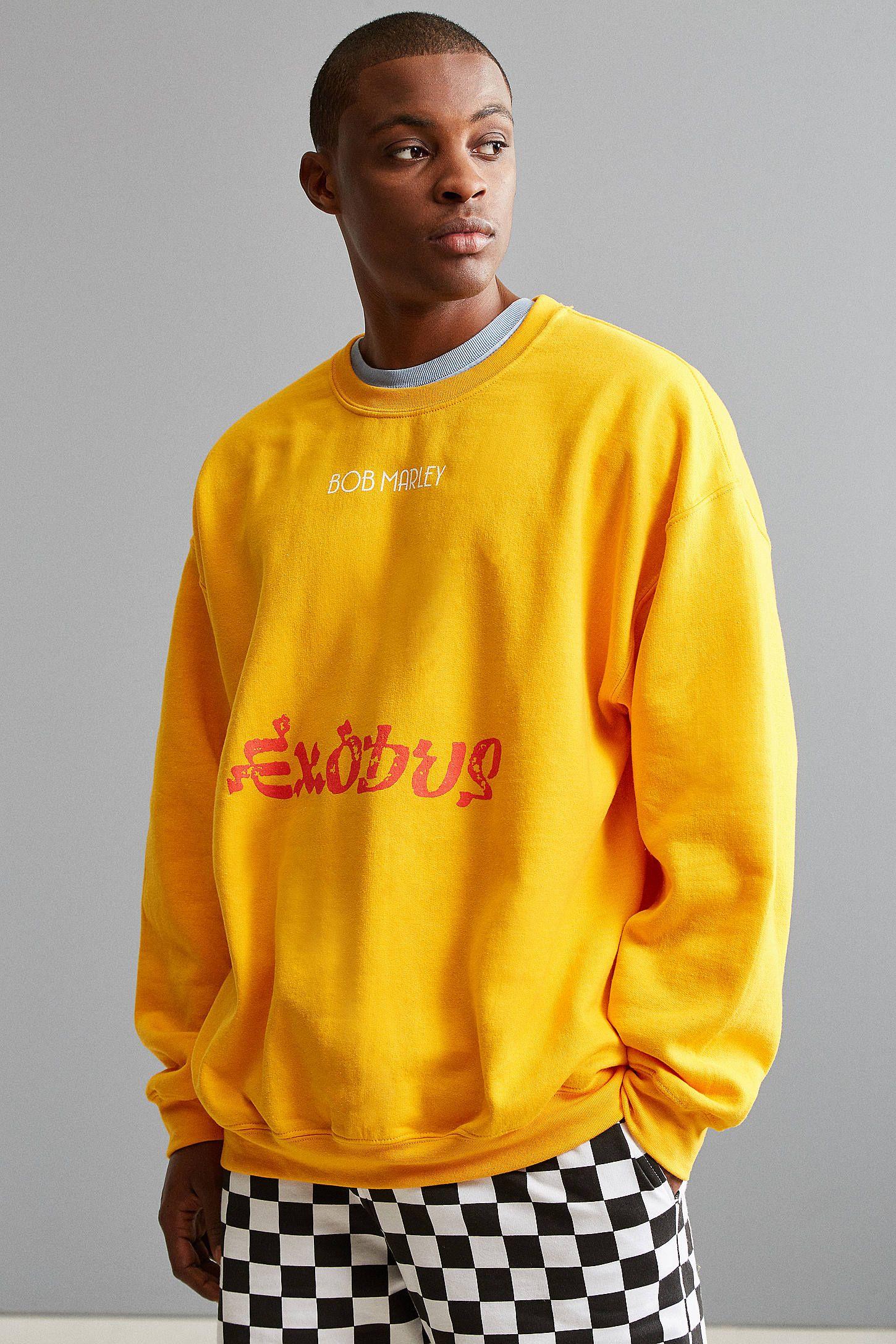 Bob Marley Exodus 40 Crew Neck Sweatshirt [ 2175 x 1450 Pixel ]
