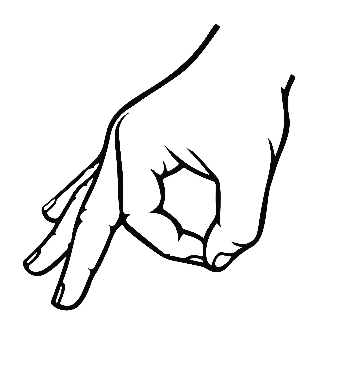 ok hand signal vinyl decal