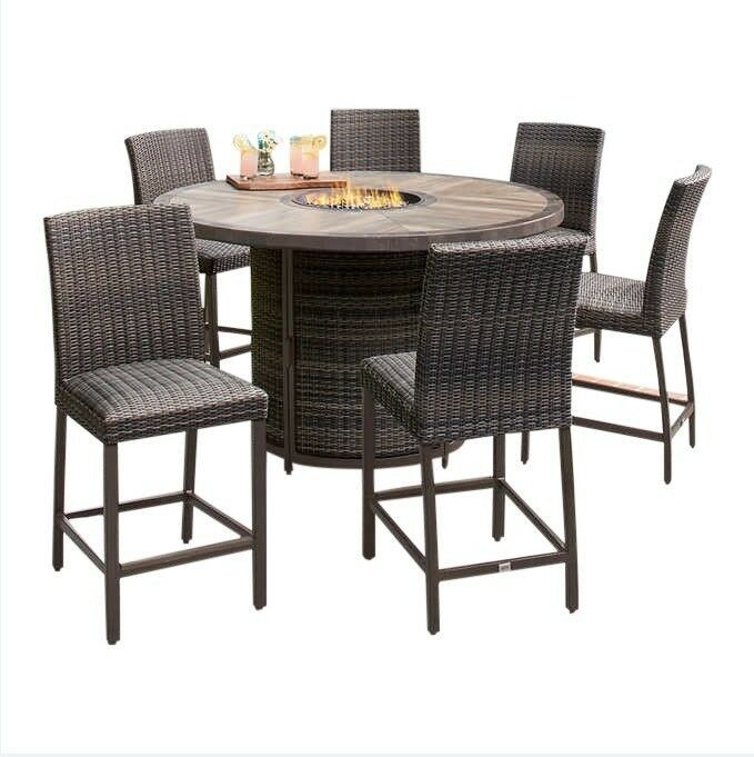 Counter Height Fire Pit Dining Table Dining Room Ideas