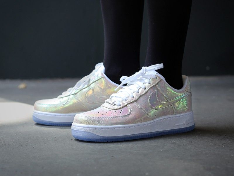 Men's Nike Air Force 1 AF1 Downtown QS Satin White Pearl Sneakers : F82c1762