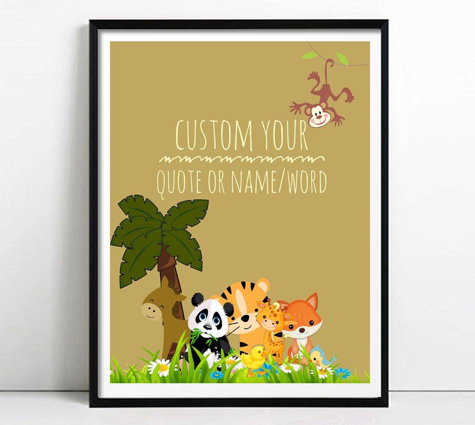 Custom nursery print,Personalized nursery Printable Art, Custom ...