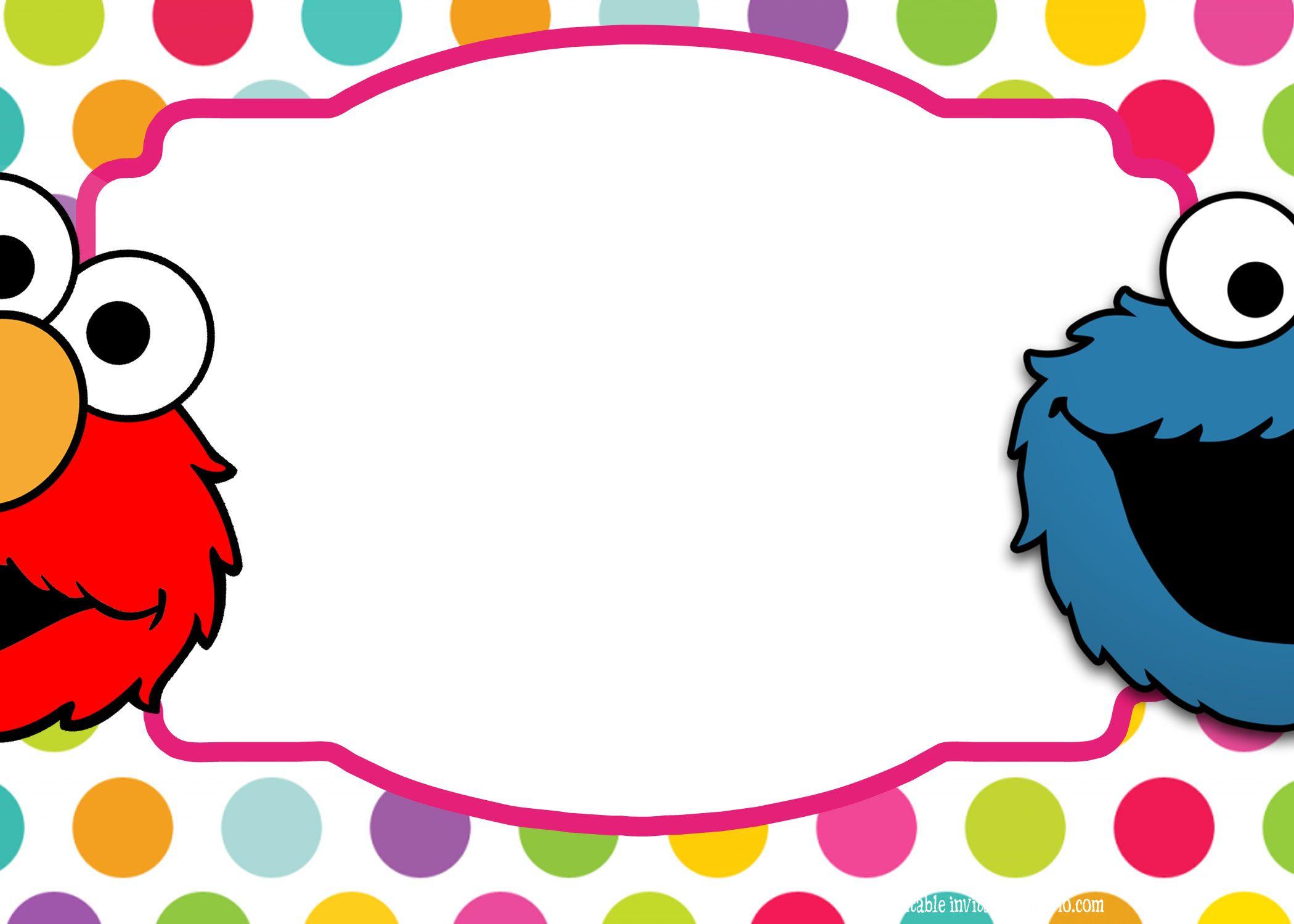 Sesame Street Twin Birthday Invitation Template   Free Printable ...