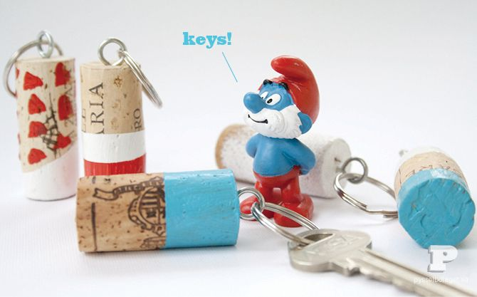 DIY key rings from pysselbolaget.