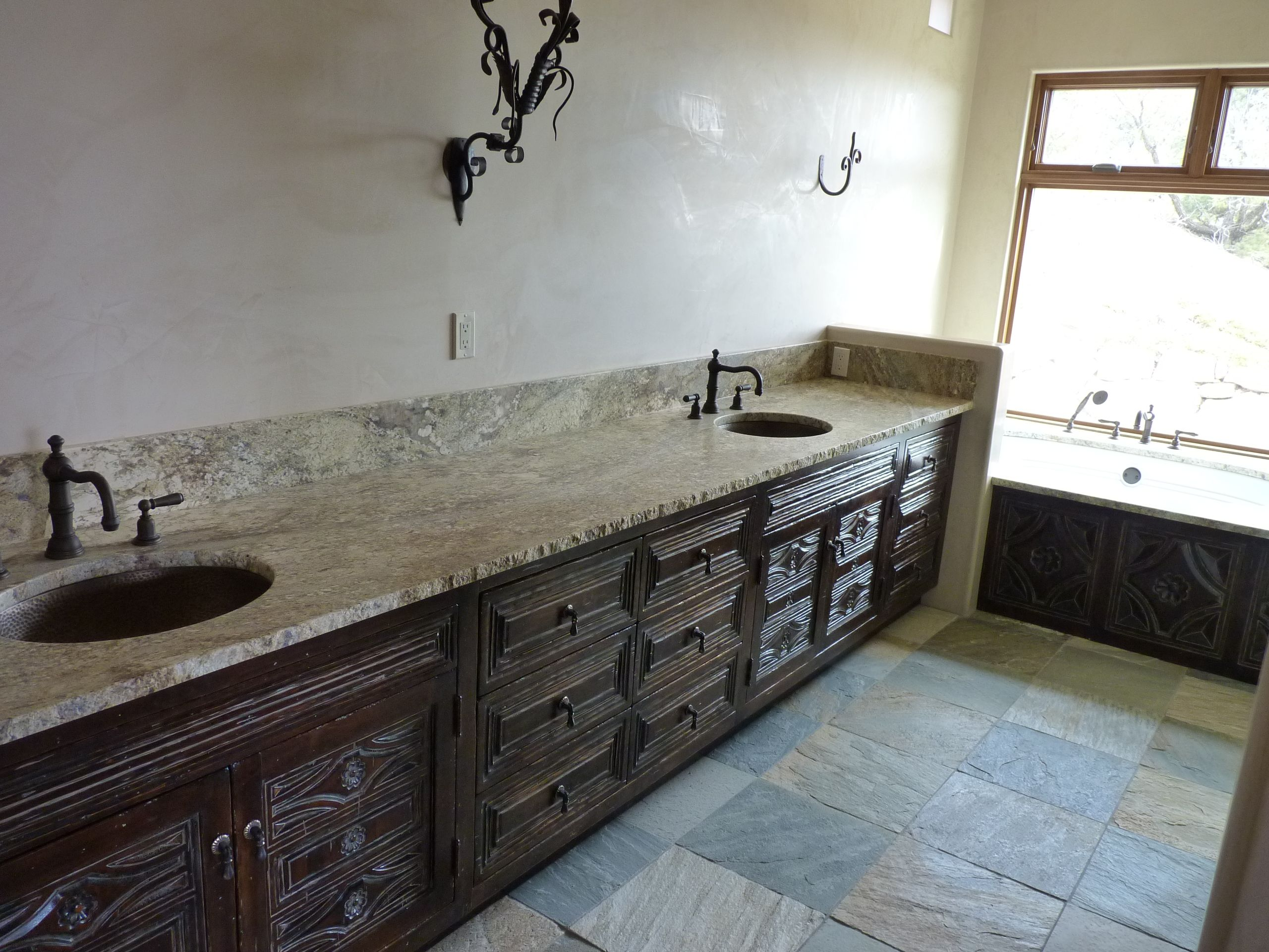 Double vanity Spanish Colonial Revival Style in this ...