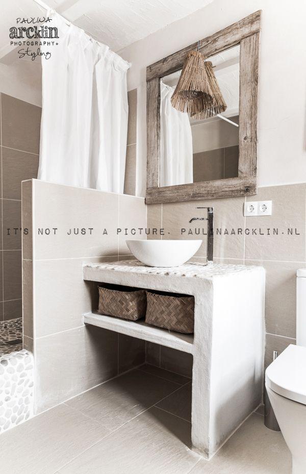 Soulful Mallorca Home By Paulina Arcklin Via Behance Ideias Para Casas De Banho Decoracao Casa De Banho Ideias Para Banheiro