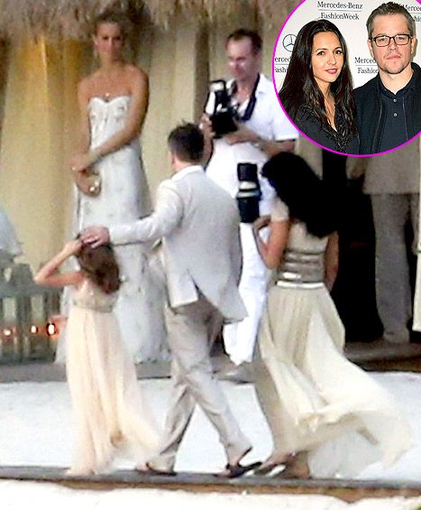 Celebrity Wedding Vows Examples: Matt Damon's Vow Renewal: See Pictures From The Star