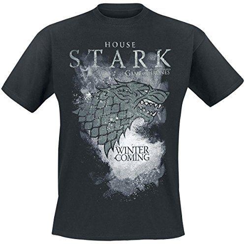 Juego de Tronos House Stark Camiseta Negro #regalo #arte #geek #camiseta