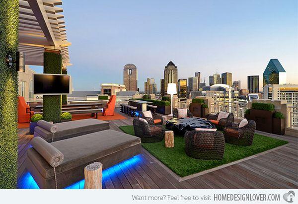 15 Modern and Contemporary Rooftop Terrace Designs Terrazas