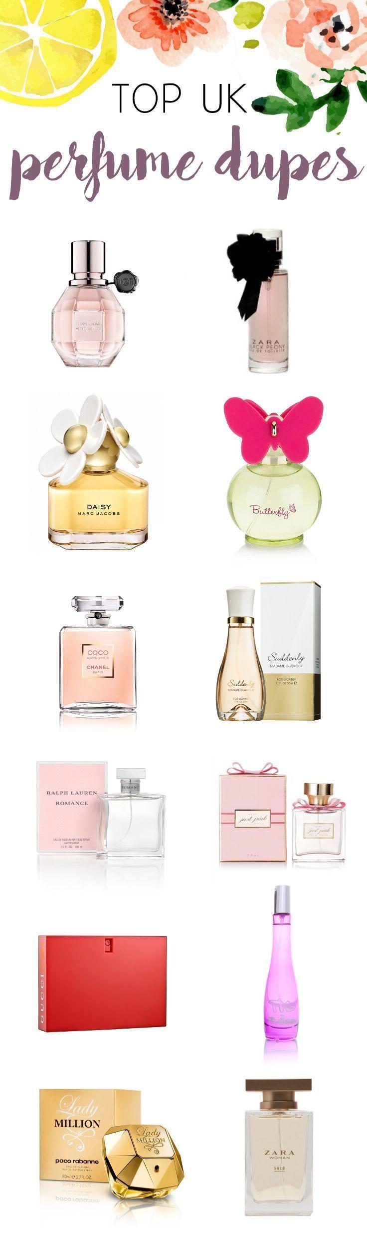 Top 8 UK Perfume Dupes drugstore Dupes Perfume Top