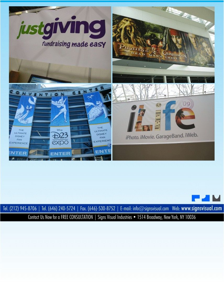 Custom Digital Printed Vinyl Banners For Both Interior And Exterior Applications In New York Ny For Custom Banners Custom Digital Prints Custom Vinyl Banners