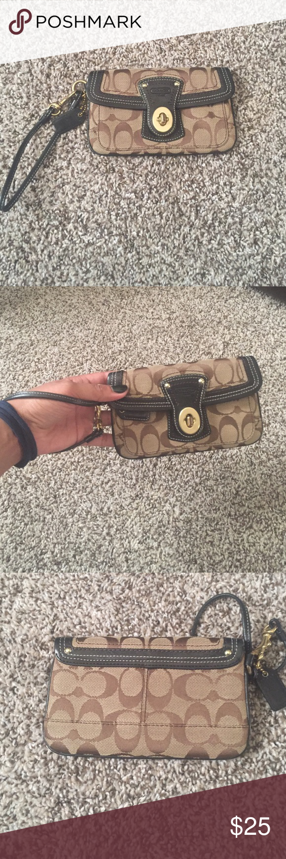 988ab146c97 Authentic COACH wristlet   Key lock, Coach wristlet and Coach bags