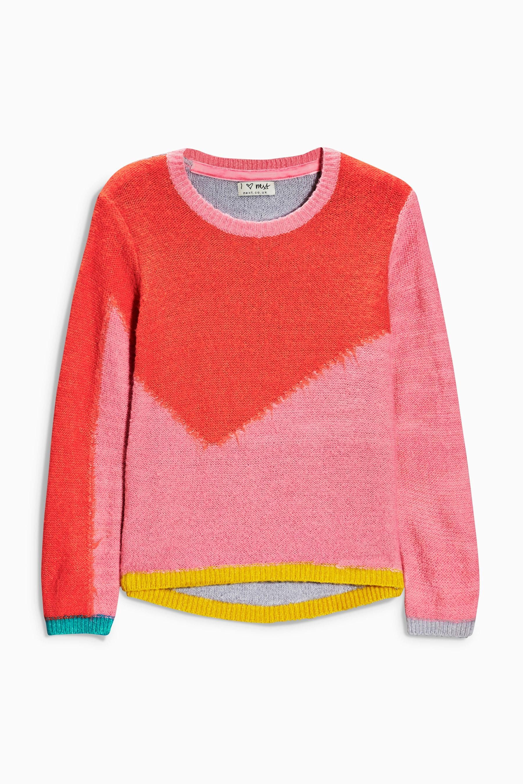 Buy Colourblock Knit Sweater (3-16yrs) from the Next UK online ...