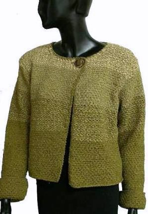 Deco Ribbon Jacket Knit With 3 Colors Of Deco Ribbon Crystal