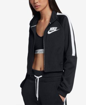 Nike Sportswear Cropped Track Jacket - Black XL  5beb9b9402