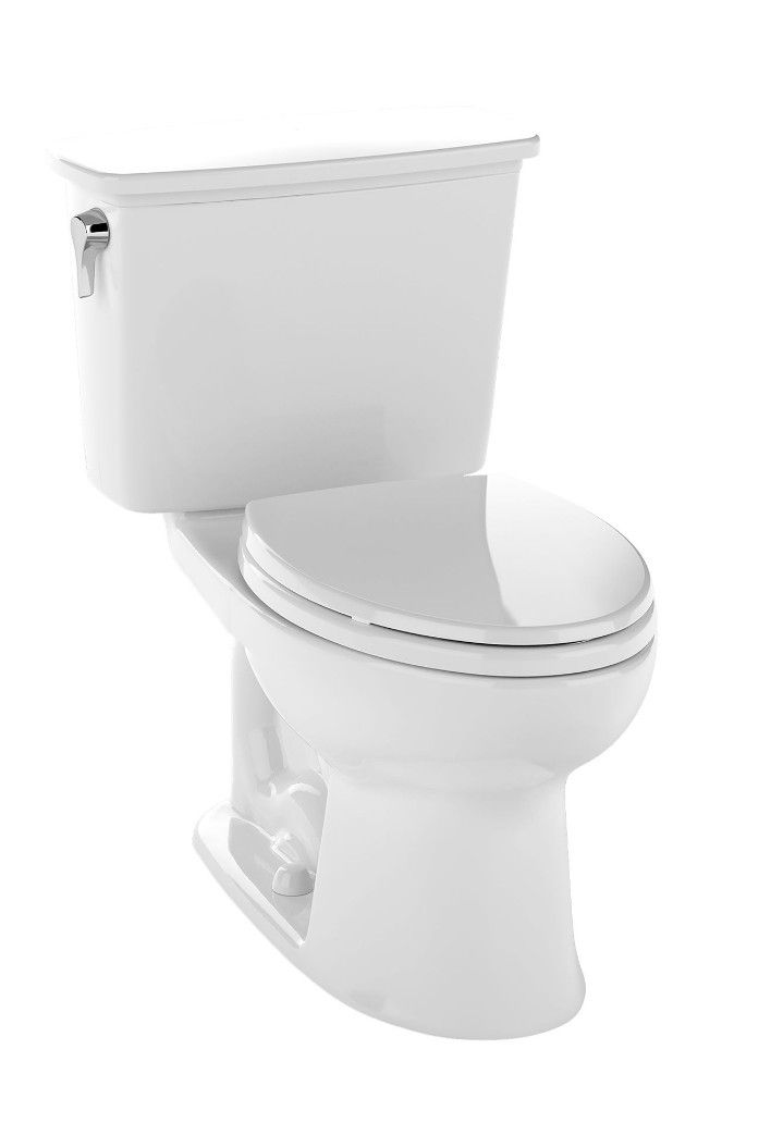 Drake 1 28 Gpf Elongated Toilet 2 Piece Contemporary Toilets Toilet Elongated