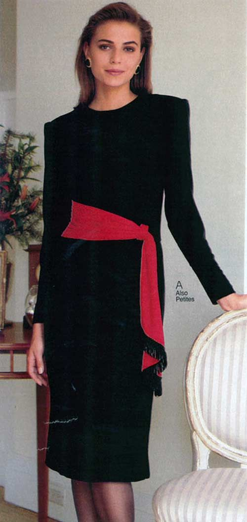 women's dress from a 1990 catalog 1990s fashion vintage