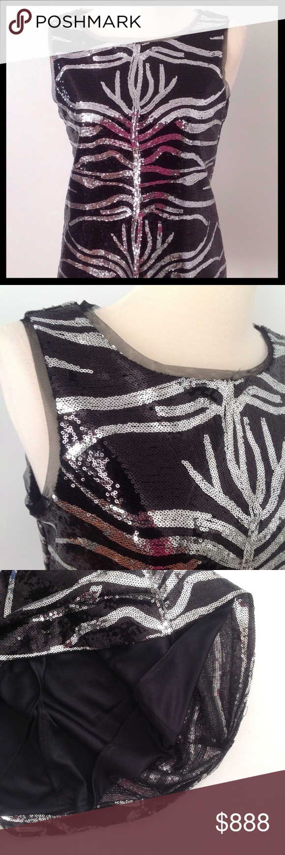 2891045f5276 DRESS BARN Collection Black and Silver Sequin Top   Sequin top ...