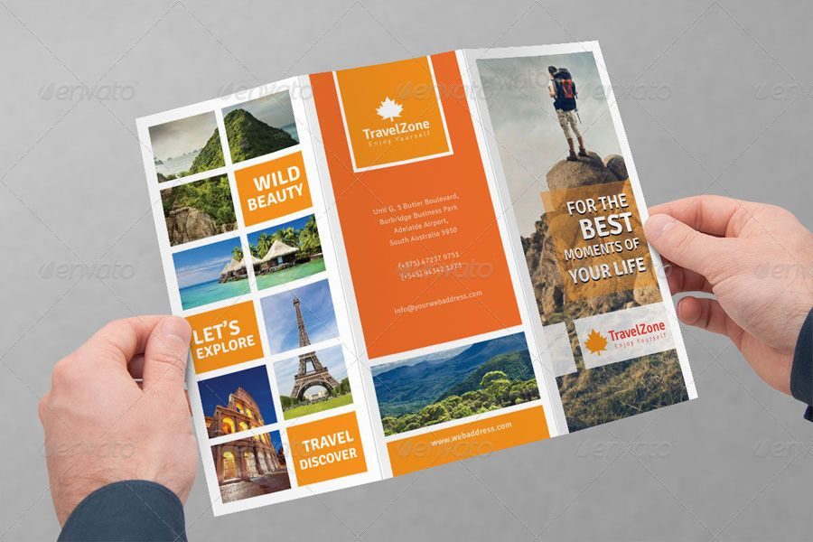 travel brochure design world tri fold best travel brochures