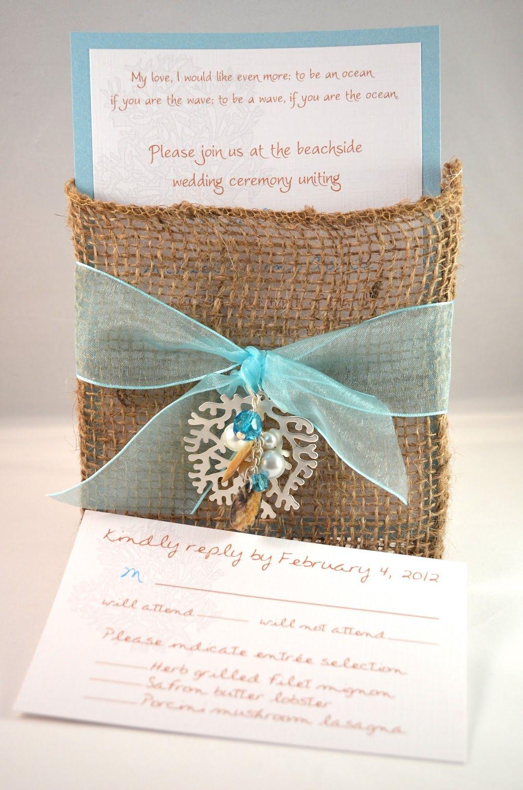 Coral Reef Wedding Invite