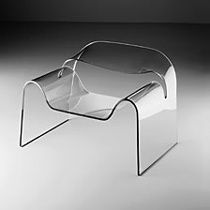 The Italian company, Fiam, designs functional conversation pieces, like this glass chair. Great style for clients desiring unique accents
