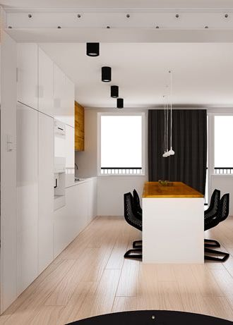 Kitchen Design In Flat Poland Archi Group Kuchnia W Mieszkaniu