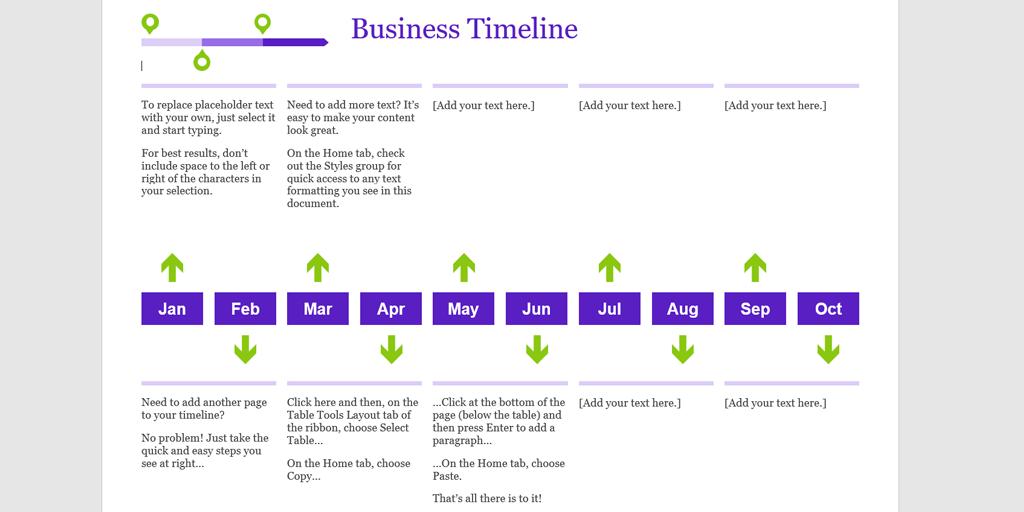 16 Month Timeline Template 116 Month Timeline Template