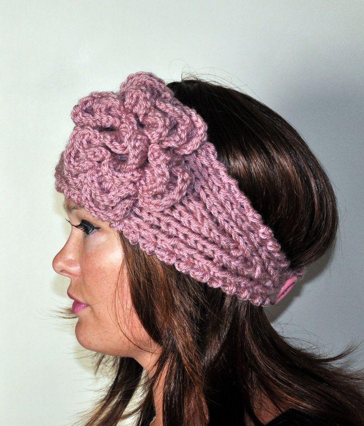 images of free crocheted ear warmer patterns | Crochet headband ...